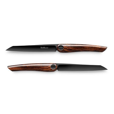 Nesmuk JANUS // 2-Pieces Steak Knife Set // Desert Iron Wood