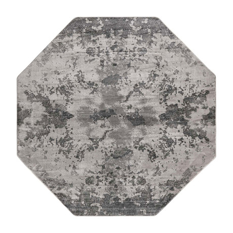 Unique Loom Metro Glaze Rug // Light Gray // Octagon
