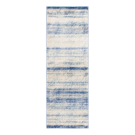 "Unique Loom Mykonos Helios Rug // Blue (26"" x 72"")"