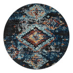 """Unique Loom Mediterranean Morocco Rug // Navy Blue // Round (48"""" x 48"""")"""