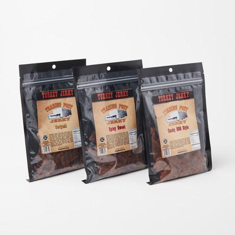 Turkey Jerky Pack // Smoky Bar, Spicy Sweet, Teriyaki