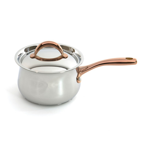 "Ouro Gold 6.25"" Covered Saucepan"