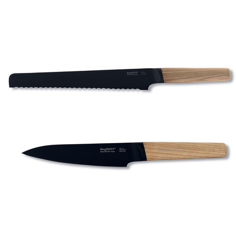 Ron 2-Piece Cutlery Set // Natural // Bread + Utility Knife