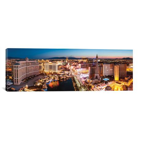 "The Las Vegas Strip At Sunrise, Las Vegas, Nevada, USA // Matteo Colombo (60""W x 20""H x 0.75""D)"
