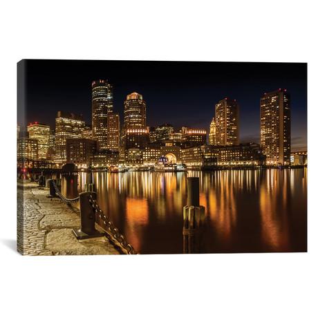 Boston Fan Pier Park & Skyline At Night // Melanie Viola