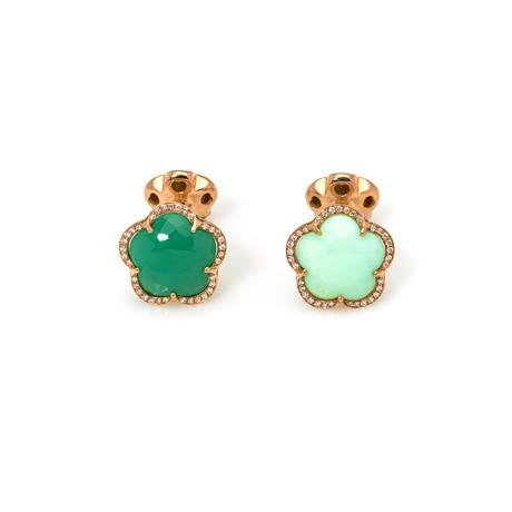 Pasquale Bruni Bon Ton Rose Gold Diamond Chrysoprase Cufflinks I // Store Display