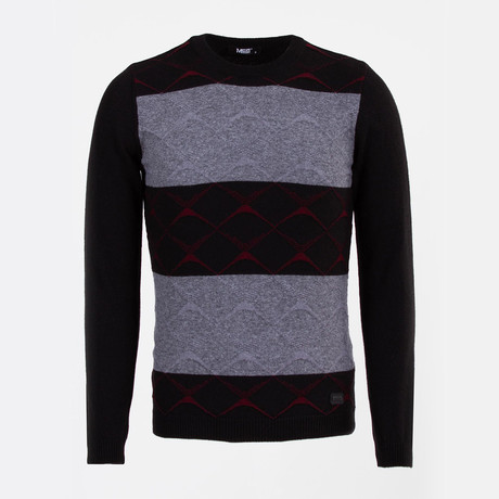 Chase Sweater // Black + Claret Red (S)