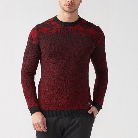 Andreas Sweater // Black + Claret Red (S)