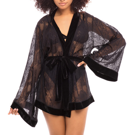 Bethany Robe // Black (S/M)