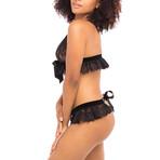 Karlie Bralette + Panty Set // Black (S/M)