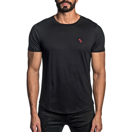 Dino Embroidered T-Shirt // Black (S)