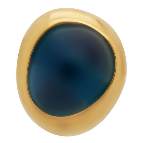 Belles Rives Yellow Gold + London Blue Topaz Single Stud Earring