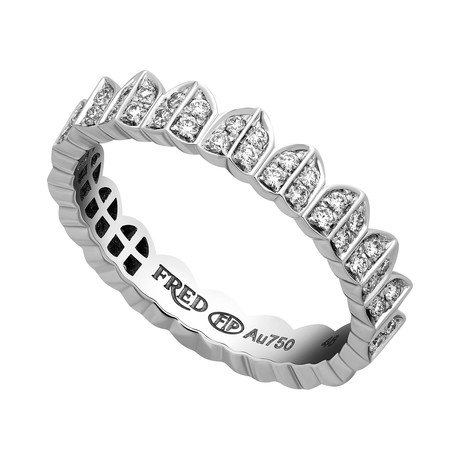 Une Ile D'or White Gold + Diamond Ring II // Ring Size 6