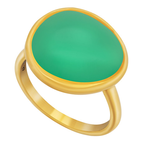 Belles Rives Yellow Gold + Chrysoprase + Ring // Ring Size: 6