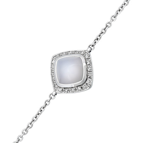 Paindesucre White Gold + Diamond + Chalcedony Bracelet