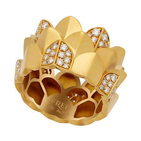 Une Ile D'or Yellow Gold + Diamond Ring I (Ring Size: 6)