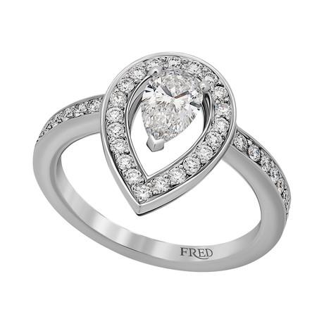 Lovelight Platinum + Diamond Ring V // Ring Size: 5.75