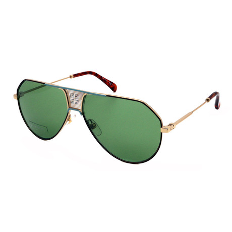 Givenchy // Men's 7137-S-MFU Sunglasses // Gold + Brown + Green