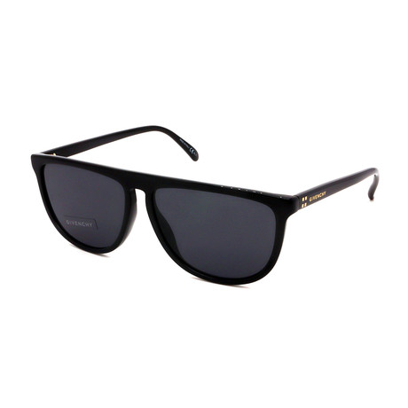 Givenchy // Men's 7145-S-807 Straight Top Sunglasses // Black + Gray