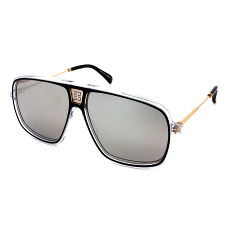 Givenchy // Men's 7138-S-7C5 Sunglasses // Silver + Black Mirror