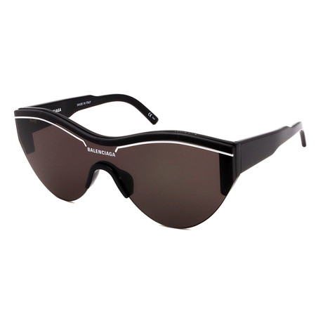 Balenciaga // Unisex BB0004S-OO1 Sunglasses // Black + Gray