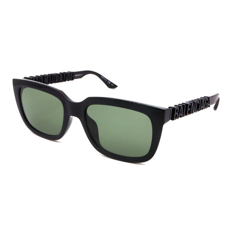 Balenciaga // Men's BB0108S-001 Sunglasses // Black + Black