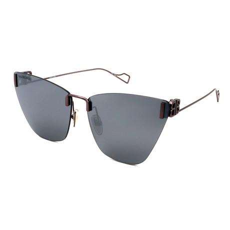 Balenciaga // Unisex BB0111S-OO2 Sunglasses // Silver + Silver Mirror