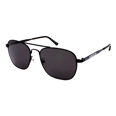 Balenciaga // Men's BB0037S-001 Aviator Sunglasses // Black + Gray + White