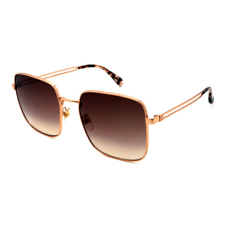 Givenchy // Unisex 7148-F-S-DDB Square Sunglasses // Gold + Brown Gradient