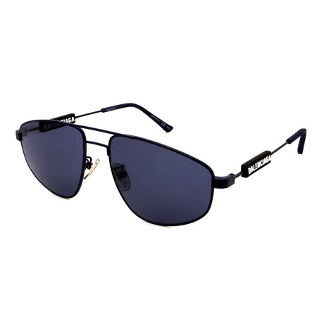Balenciaga // Men's BB0115S-003 Sunglasses // Black + Black