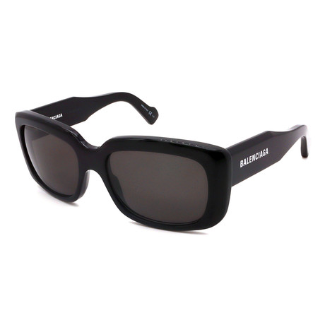 Balenciaga // Unisex BB0072S-001 Sunglasses // Black + Gray + White