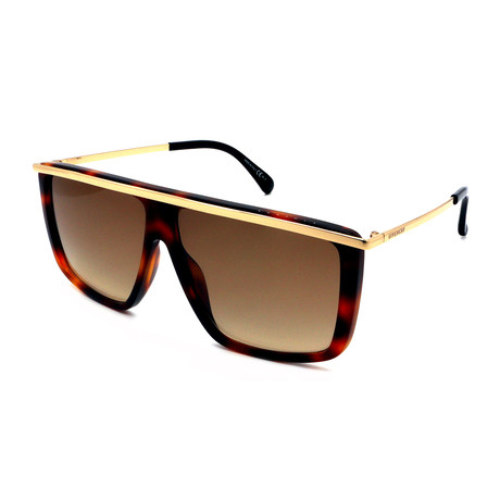 Givenchy // Men's 7146-G-S-21K Sunglasses // Havana Brown + Gold Gradient