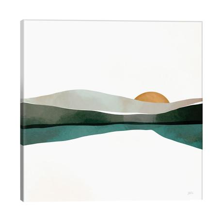"Teal Sunset // Bria Nicole (26""W x 26""H x 1.5""D)"