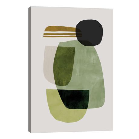 "Green Abstract // Dan Hobday (26""W x 40""H x 1.5""D)"