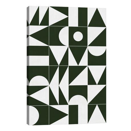 "My Favorite Geometric Patterns No.15 - Deep Green // Zoltan Ratko (26""W x 40""H x 1.5""D)"