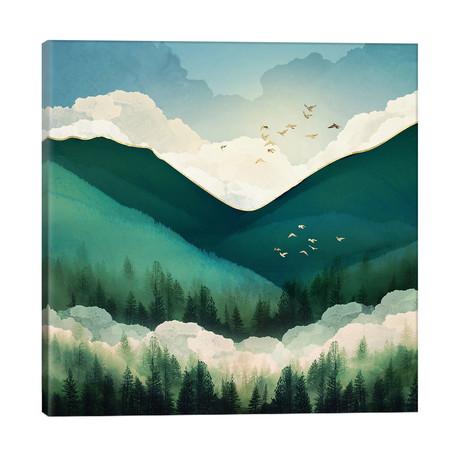 "Emerald Hills // SpaceFrog Designs (26""W x 26""H x 1.5""D)"
