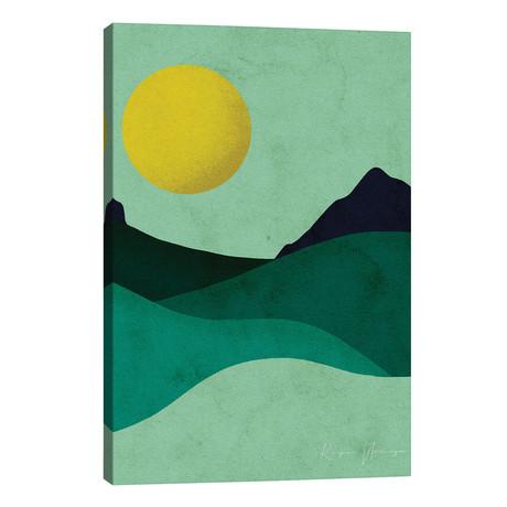 """Chartreuse Moon // Reyna Noriega (26""""W x 40""""H x 1.5""""D)"""