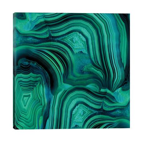 """Malachite In Green And Blue // Danielle Carson (26""""W x 26""""H x 1.5""""D)"""