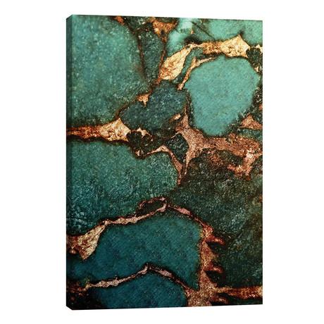 "Gemstone And Gold - Emerald // Monika Strigel (26""W x 40""H x 1.5""D)"