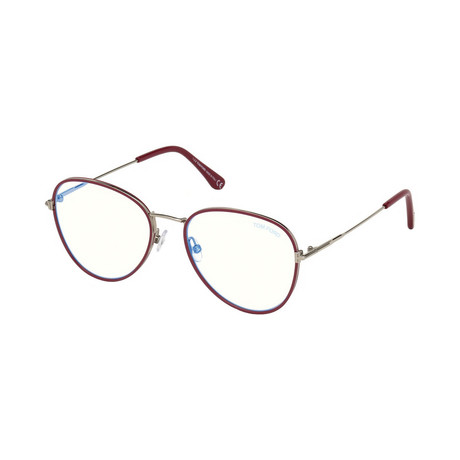 Men's Pilot Blue Light Blocking Glasses // Red