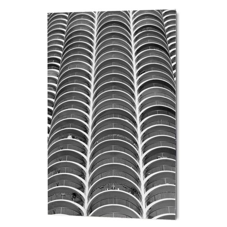"Layers - Marina Towers Chicago (16""W x 24""H x 1.5""D)"