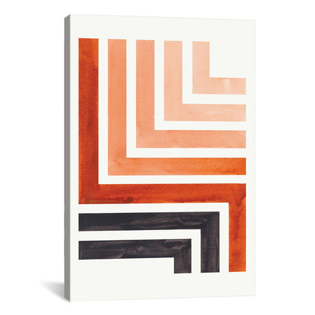 "Burnt Sienna Aztec Pattern // EnShape (26""W x 40""H x 1.5""D)"