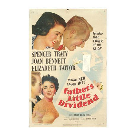 Father's Little Dividend // 1951 Offset Lithograph