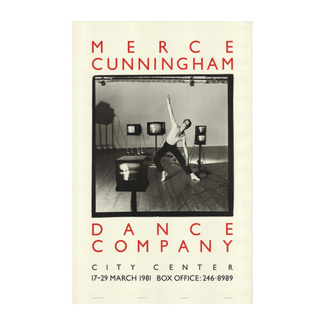 Terry Stevenson // Merce Cunningham Dance Company // 1981 Offset Lithograph