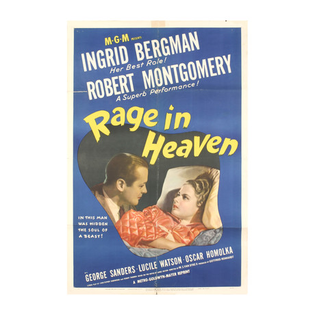 Rage in Heaven // 1941 Offset Lithograph