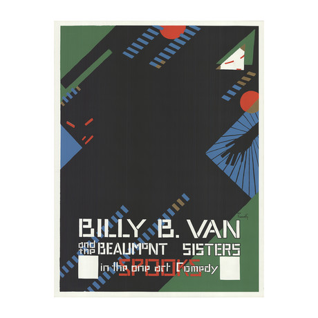 Alfonso Iannelli // Billy B. Van & The Beaumont Sisters // 1968 Serigraph