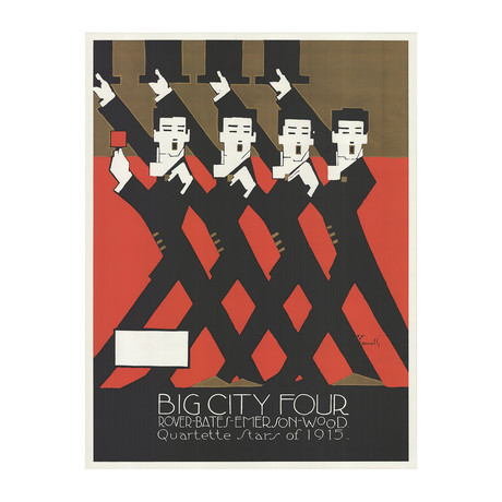 Alfonso Iannelli // Big City Four // 1969 Serigraph