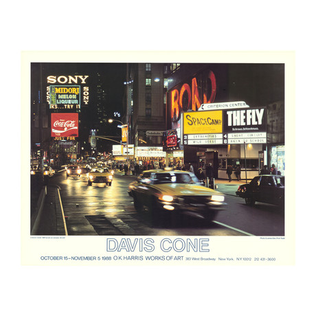 Davis Cone // Criterion Center // 1988 Offset Lithograph