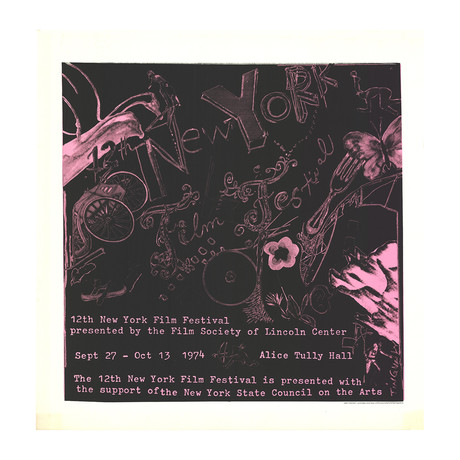 Jean Tinguely // 12th New York Film Festival // 1974 Serigraph