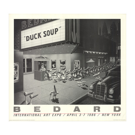 Michael Bedard // Duck Soup // 1985 Offset Lithograph